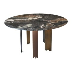 Ekis D130 Marble Round Dining Table