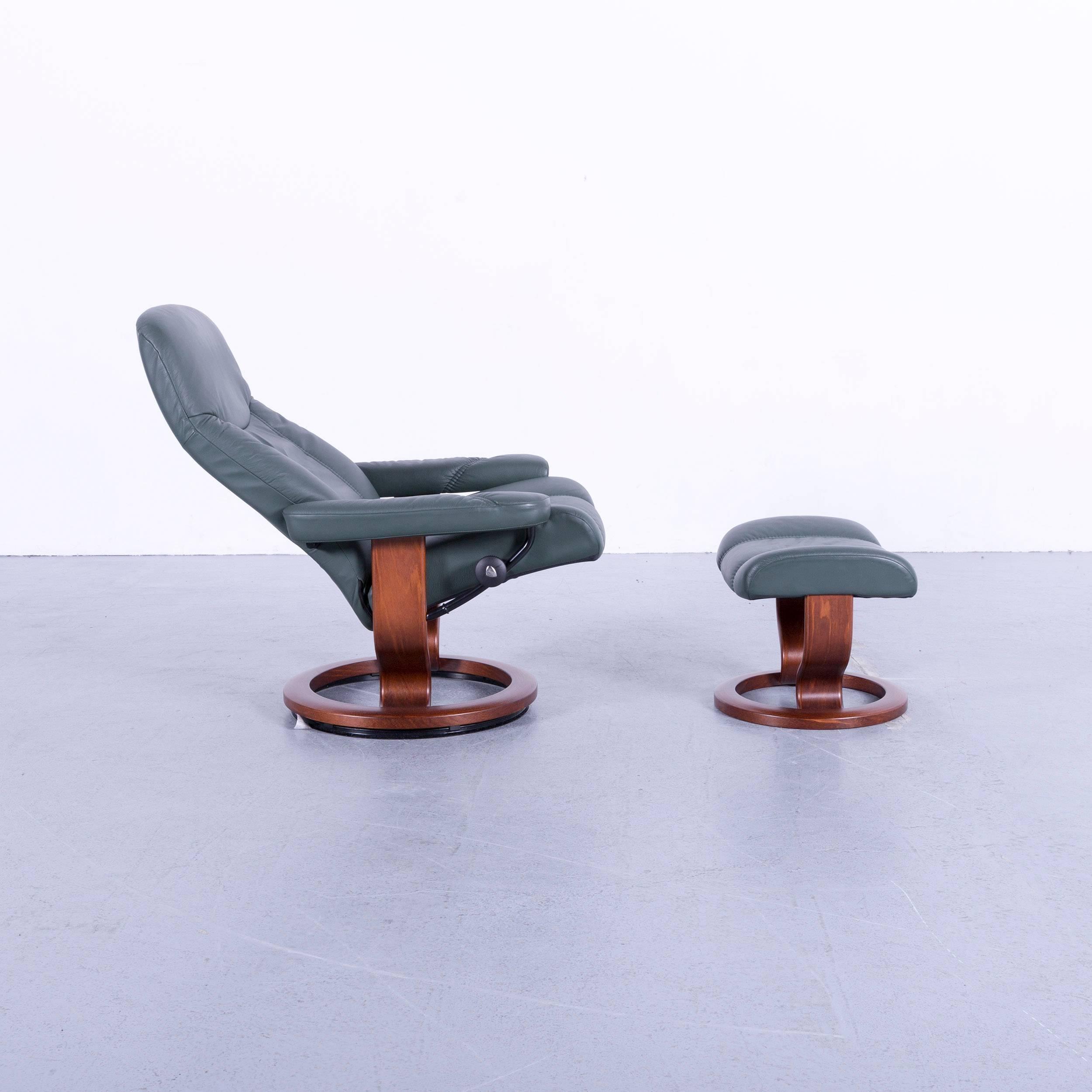 Fabulous Ekornes Stressless Consul Armchair Set Green Leather Modern Creativecarmelina Interior Chair Design Creativecarmelinacom
