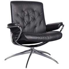 Ekornes Stressless Metro M Low Back Designer Leather Office Chair Black