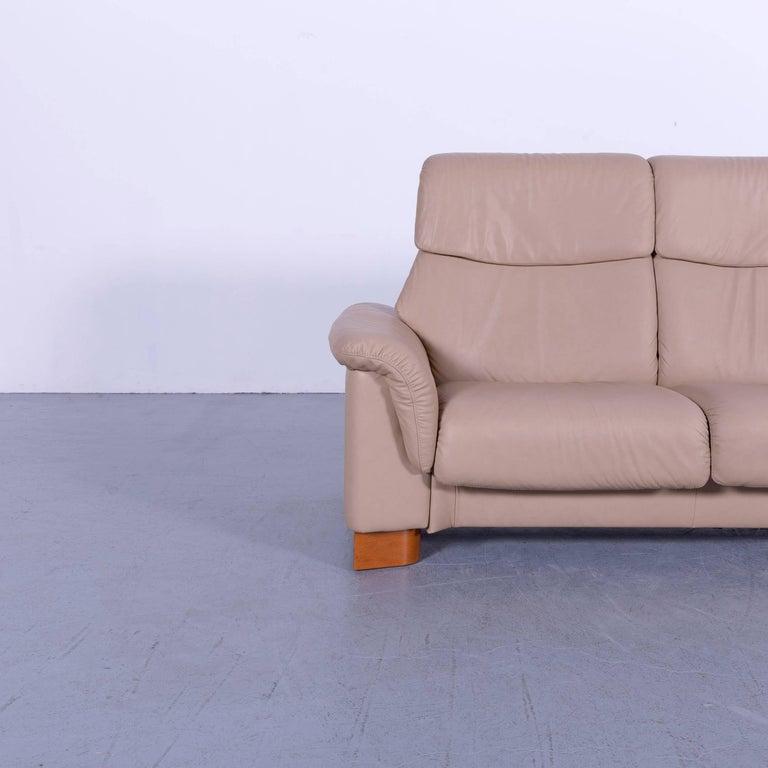 Ekornes Stressless Paradise Sofa Set Beige Leather Three Seat