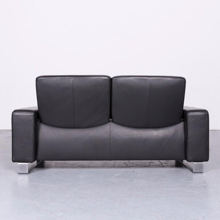 Ekornes Stressless Space Leather Sofa Black Recliner 5
