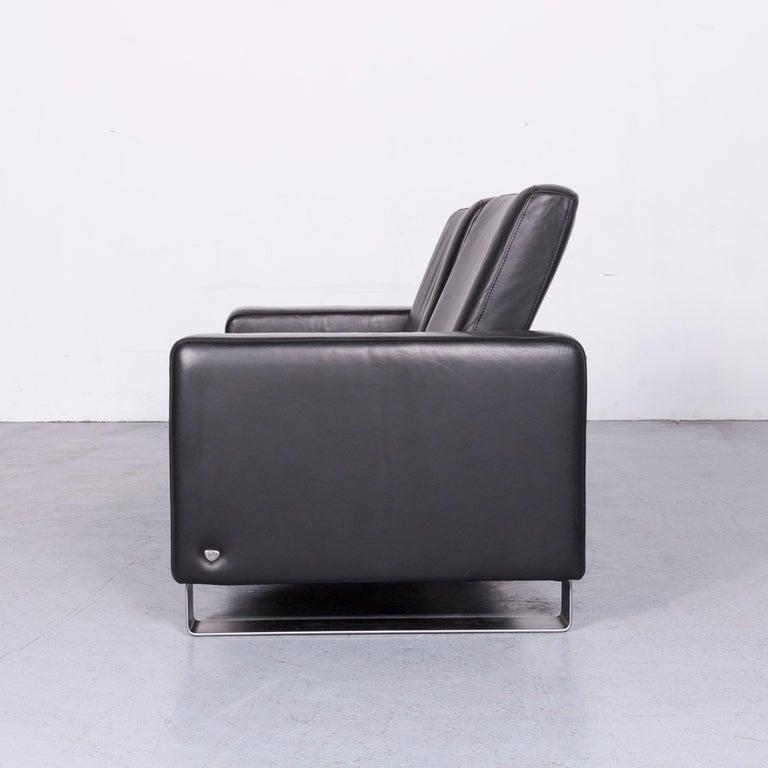 Ekornes Stressless Space Leather Sofa Black Recliner 6