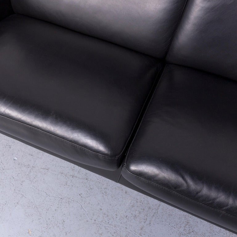 Ekornes Stressless Space Leather Sofa Black Recliner 1