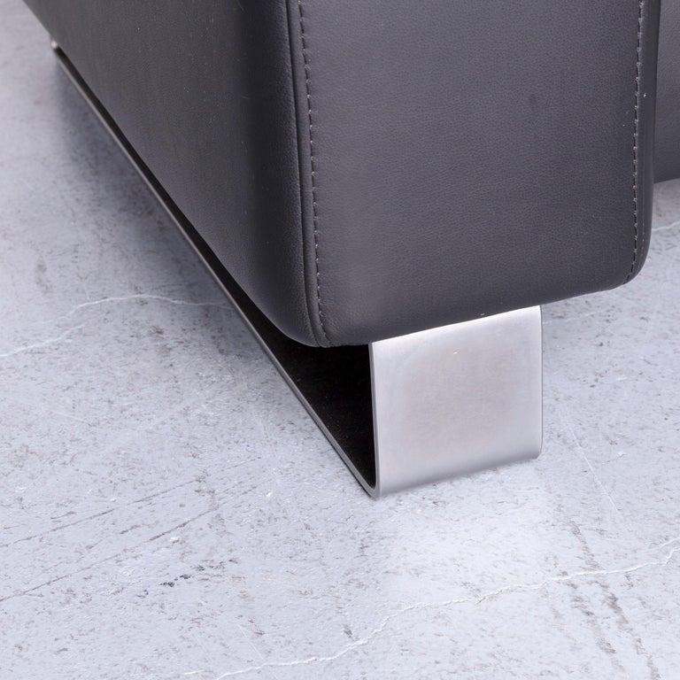 Ekornes Stressless Space Leather Sofa Black Recliner 2