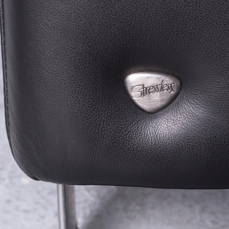 Ekornes Stressless Space Leather Sofa Black Recliner 3