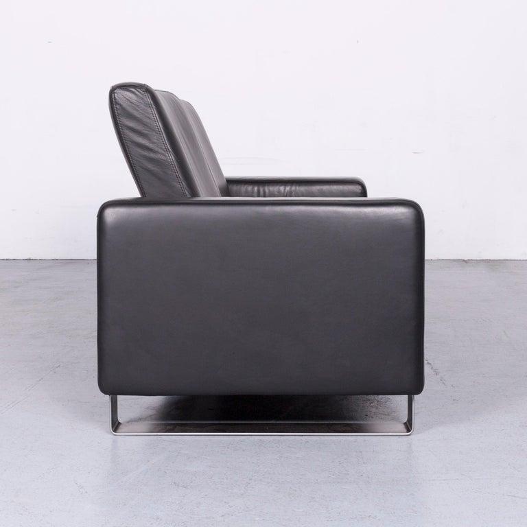 Ekornes Stressless Space Leather Sofa Black Recliner 4