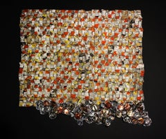 El Anatsui, Paper and Gold 2017, pigment inkjet print with hand-cut edges