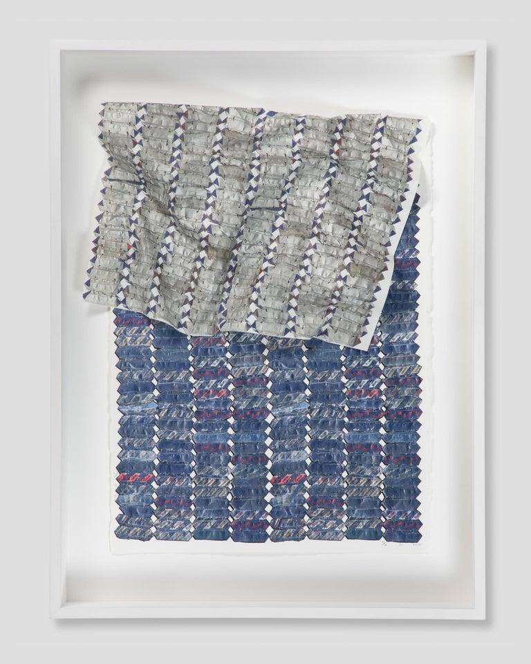 Blue Variation  - Print by El Anatsui