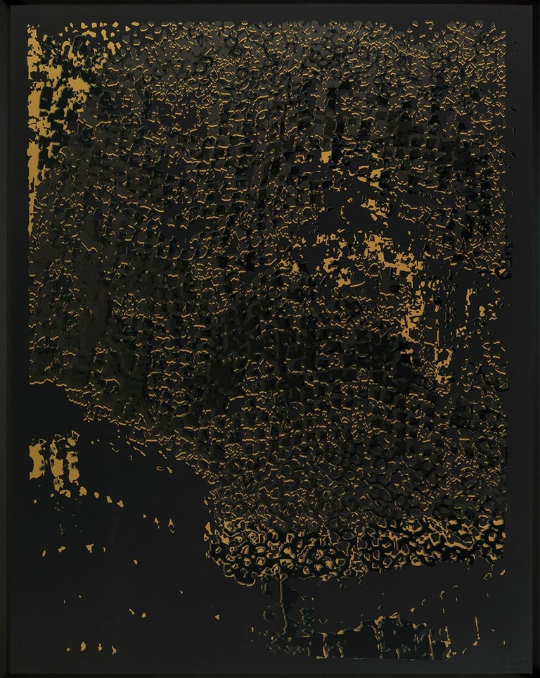 Untitled (Black Edge with Pearl)  - Print by El Anatsui