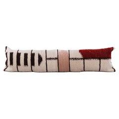 El Baul Handmade Wool and Linen Lumbar Pillow, in Stock