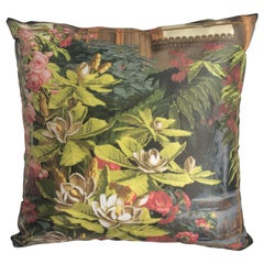 """El Dorado Bouquet"" Silk Throw Pillow in Polychrome by Zuber"