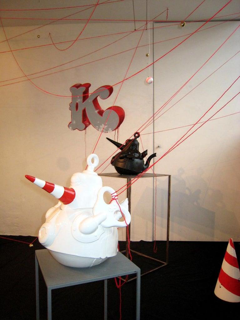 El Gato Chimney, Ceramic Sculpture, Superego Editions, Italy For Sale 3