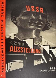 1980 Poster For Russian Exhibition USSR 1929 Constructivist Design Museum Zurich