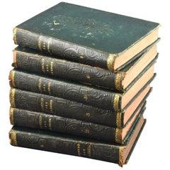 """El Quijote"", Cervantes. Six Volumes; Madrid, D.E. Aguado Office, Madrid, 1833"
