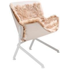 El Santo Powder Coated Steel and Fur Basin Armchair