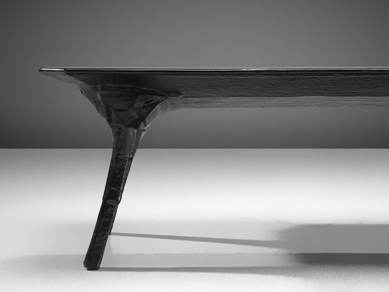Fiberglass El Ultimo Grito Dining Table with Sculptural Legs For Sale