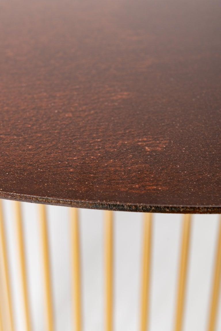 Italian Ela Luxury Table in Cor-ten steel, Made in Italy For Sale