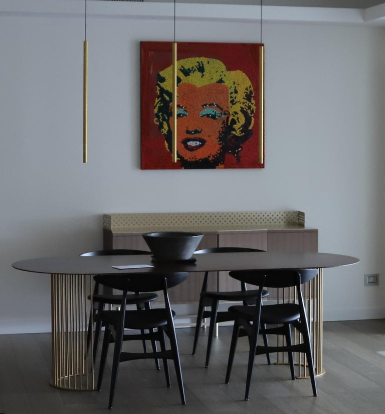 Ela Luxury Table in Cor-ten steel, Made in Italy For Sale 1