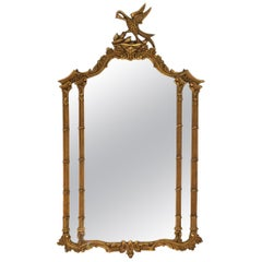 Elaborate Gilt Wood Georgian Style Mirror