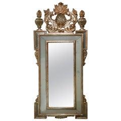 Elaborate Giltwood Mirror with Églomisé Inserts
