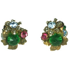 Elaborate Miriam Haskell Earrings
