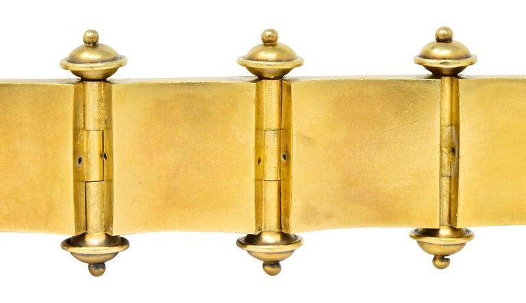 Elaborate Victorian Etruscan Revival 14 Karat Gold Bracelet 3