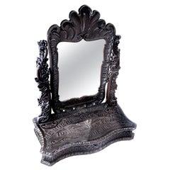 Elaborately Carved Tribute Folk Art Americana Mirror, 1894