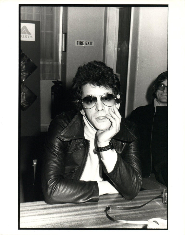Elaine bryant black and white photograph lou reed in sunglasses vintage original photograph