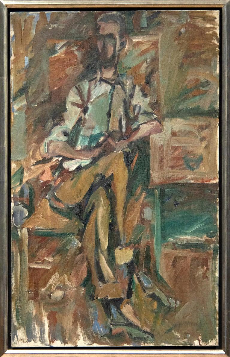 Bill Brown - Painting by Elaine de Kooning