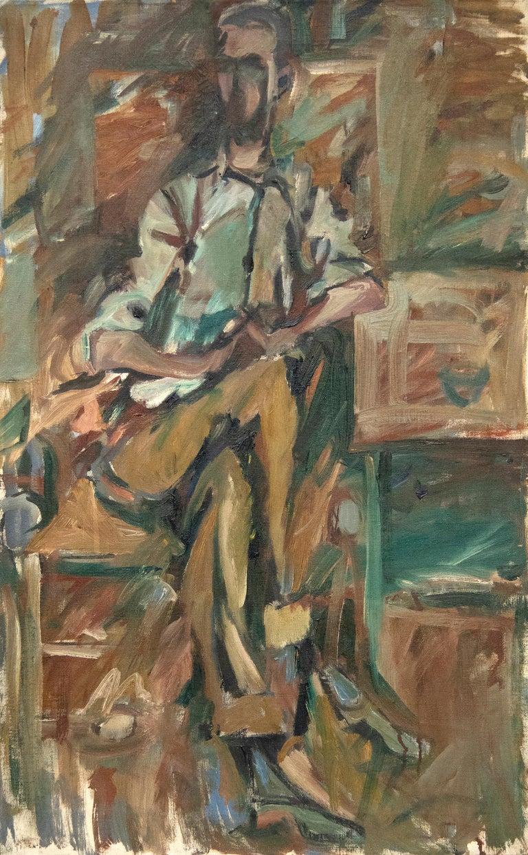 Elaine de Kooning Abstract Painting - Bill Brown