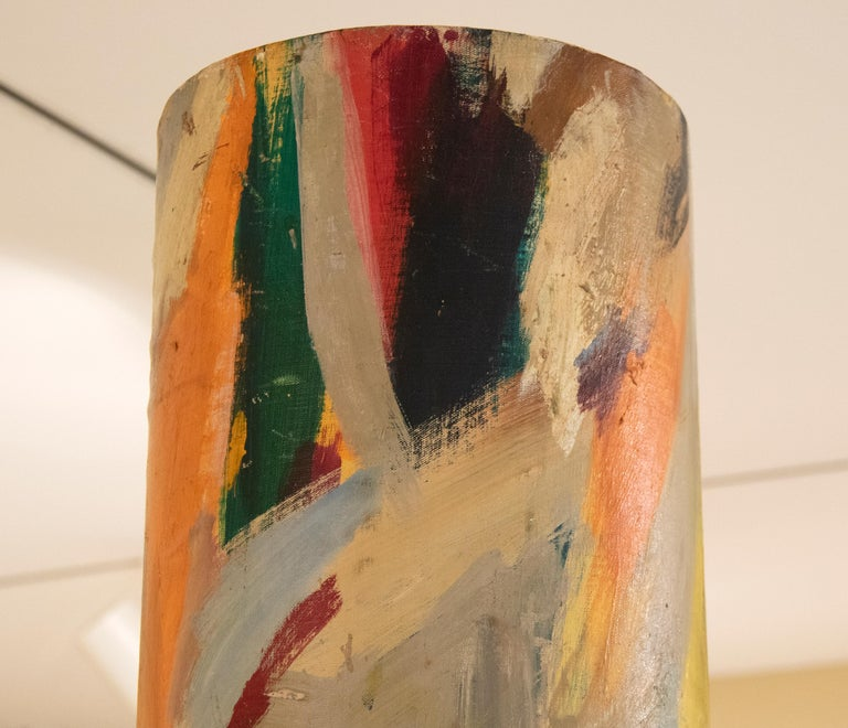 A sculptural painting by Elaine De Kooning.