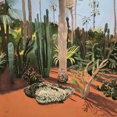 Elaine Kazimierczuk, Cacti Varieties and Palm Tree, Marjorelle Gardens, Morocco