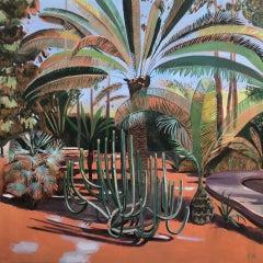 Elaine Kazimierczuk, Cactus and Large Palm, Majorelle Gardens, Morocco