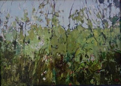 Elaine Kazimierczuk-Hedgerow with Blackthorn Blossom near Gunthorpe Bridge