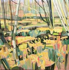 Elaine Kazimierczuk, Host of Golden Daffodils, Contemporary Art, Landscape Art