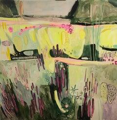 Elaine Kazimierczuk, Large Merton Beds 2, Original Abstract Landscape Painting