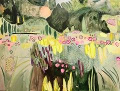 Elaine Kazimierczuk, Large Merton Beds 3 ,Original Abstract Landscape Painting