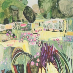 Elaine Kazimierczuk, Pink, Yellow and Purple in the Merton Borders, Floral Art