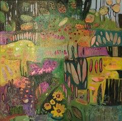 Elaine Kazimierczuk, Pretty Pink Plants, Contemporary Art, Floral Abstract Art