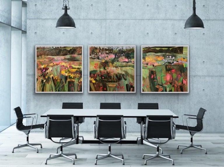 Elaine Kazimierczuk, Tackley Triptych, Contemporary Art, Triptych Landscape Art For Sale 4