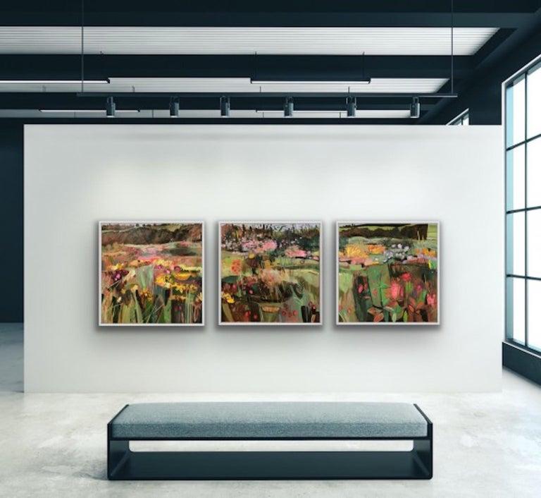 Elaine Kazimierczuk, Tackley Triptych, Contemporary Art, Triptych Landscape Art For Sale 5