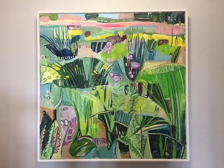 Eremurus (Pink Merton Beds) - Painting by Elaine Kazimierczuk