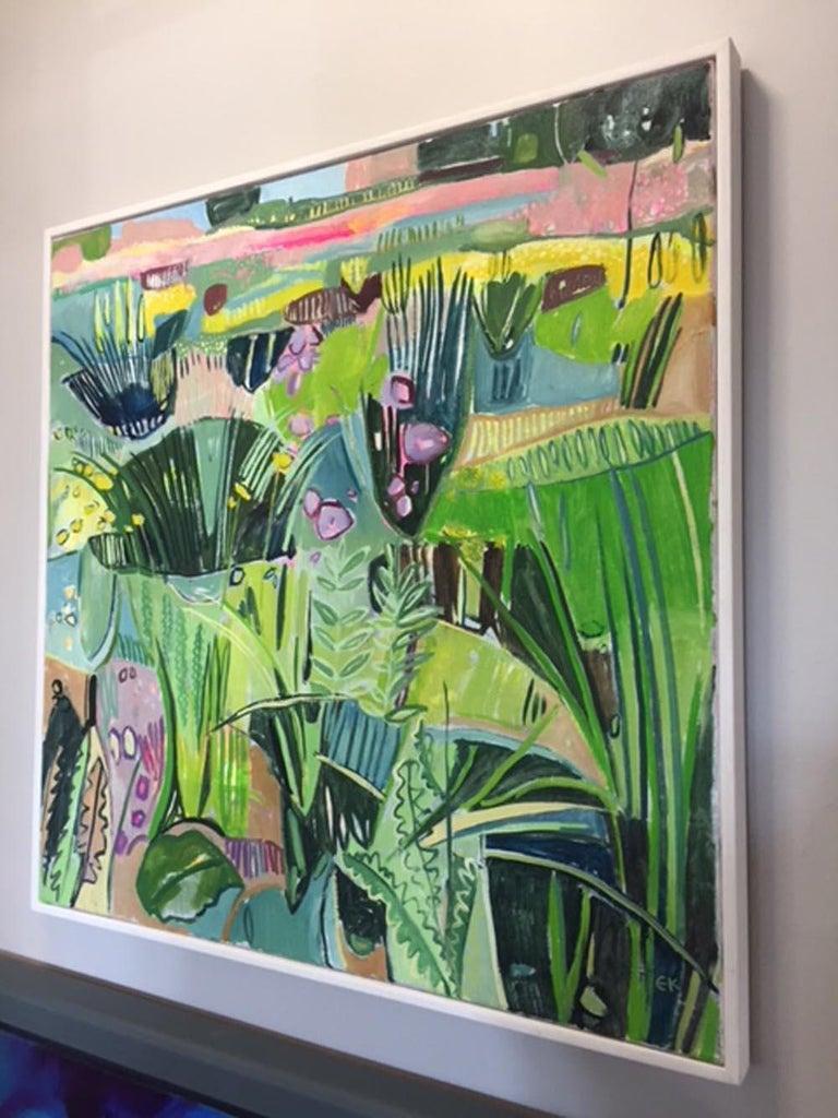 Eremurus (Pink Merton Beds) - Contemporary Painting by Elaine Kazimierczuk