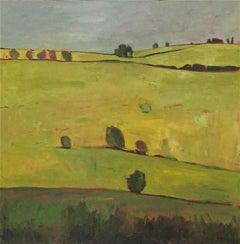 Grey, Yellow, Green- Elaine Kaziemierczuk, Original Landcape