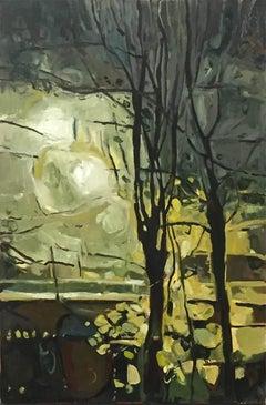 November Lamplight II, Elaine Kazimierczuk, City, Tree
