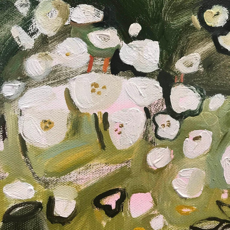 Rose, Lily, Rose, Lily, large original landscape abstract painting  - Black Landscape Painting by Elaine Kazimierczuk