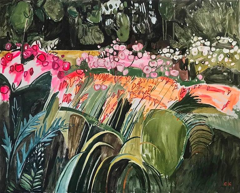 Elaine Kazimierczuk Landscape Painting - Rose, Lily, Rose, Lily, large original landscape abstract painting