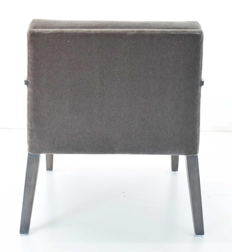 Modern Elana Chair by Bright in Mohair For Sale