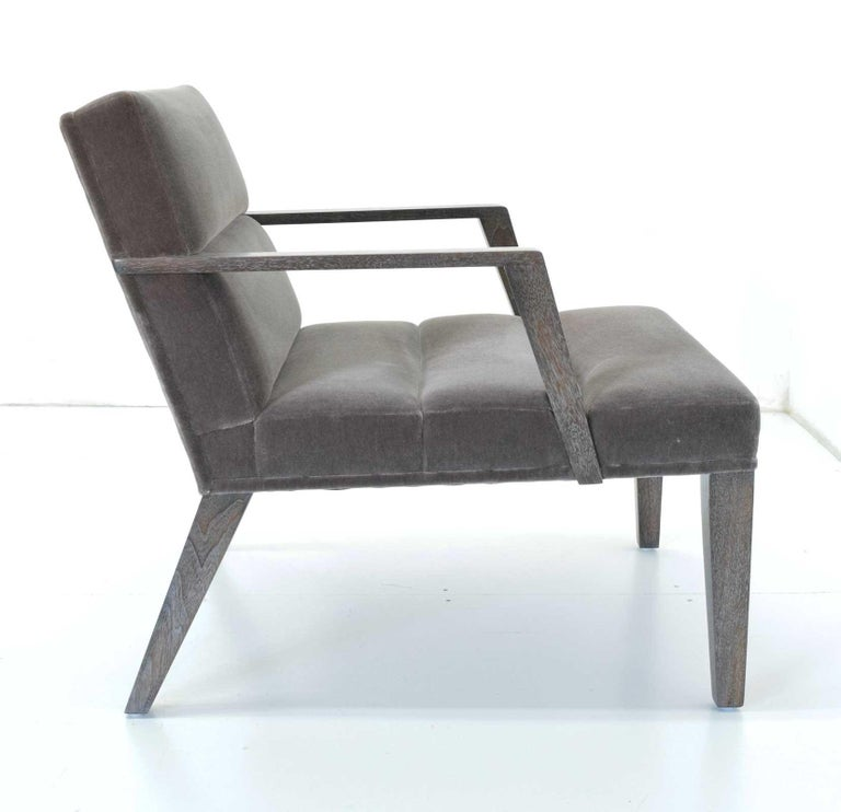American Elana Chair by Bright in Mohair For Sale