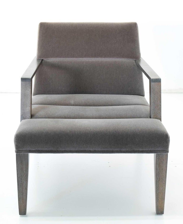 Elana Chair by Bright in Mohair In Good Condition For Sale In Dallas, TX